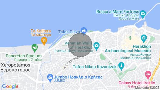 Crete Apt Sleep 4+1. Map