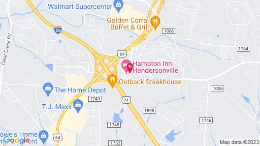 Hampton Inn Hendersonville Map