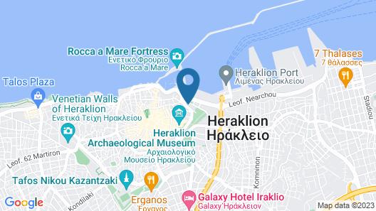 GDM Megaron Historical Monument Hotel Map
