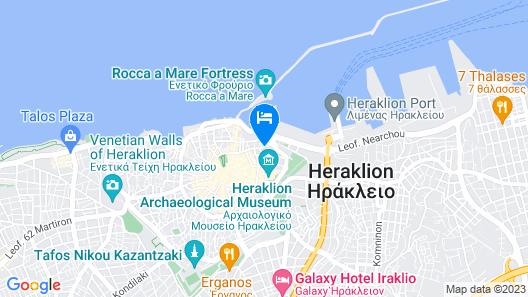Luxury Apts Heraklion Center Map