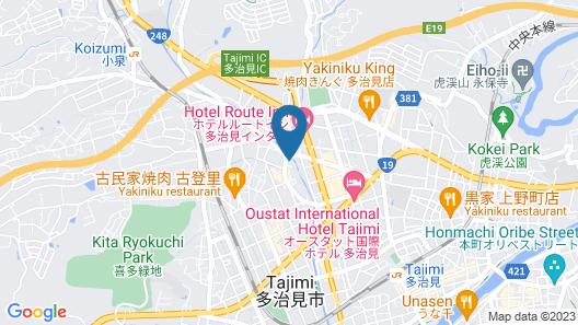 Hotel Tajimi Hills Riverside Map
