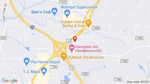Best Western Hendersonville Inn Map