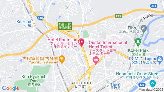 Hotel Route-Inn Tajimi Inter Map