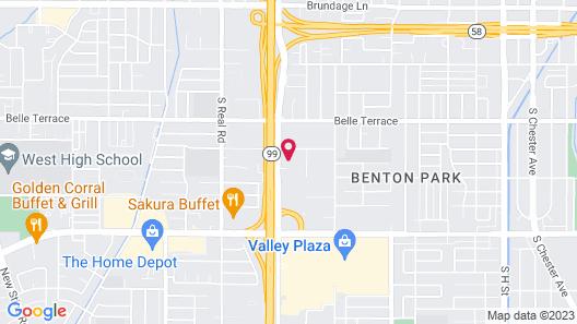 Econo Lodge Near Bakersfield Fairgrounds Map
