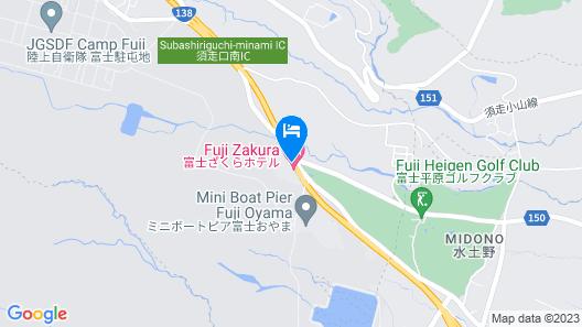 Fujizakura Hotel Map