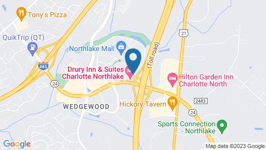 Drury Inn & Suites Charlotte Northlake Map