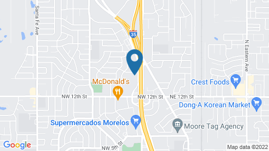 Candlewood Suites Oklahoma City-Moore, an IHG Hotel Map