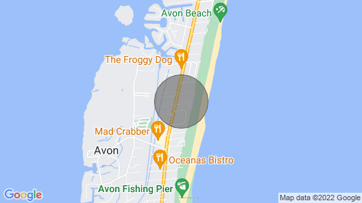 ?convenient Avon Oceanside w/ 3 Masters, Hot Tub + Comm. Pool ? Map