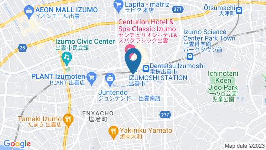 Super Hotel Izumoekimae Map