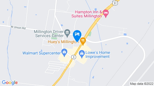 Holiday Inn Express & Suites Millington Map