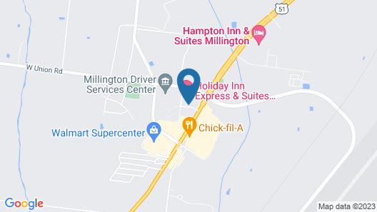 Holiday Inn Express & Suites Millington, an IHG Hotel Map