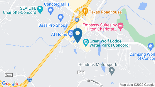 Great Wolf Lodge Concord Map