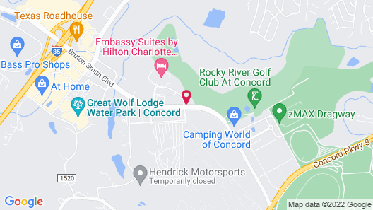 Embassy Suites by Hilton Charlotte-Concord-Golf Resort & Spa Map