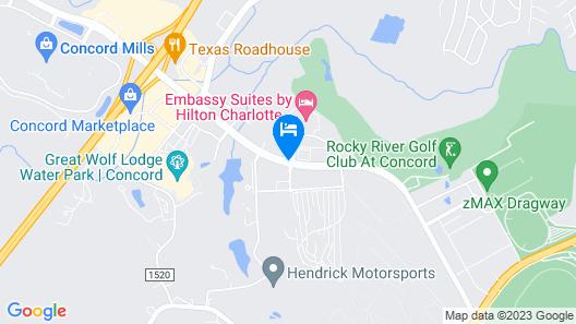 Courtyard Marriott Concord Map