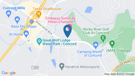 Homewood Suites by Hilton Concord Charlotte Map