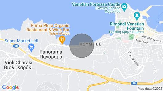 Apartments Creta Seafront, Rethymnon Map