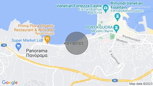 Apartments Macaris, Rethymnon Map