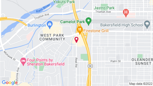 Super 8 by Wyndham Bakersfield/Central Map