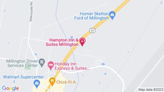 Hampton Inn & Suites Millington Map