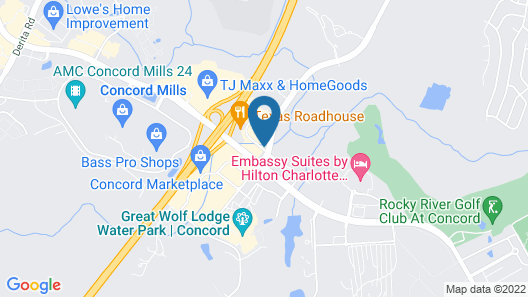 Holiday Inn Express Hotel & Suites Charlotte-Concord-I-85, an IHG Hotel Map
