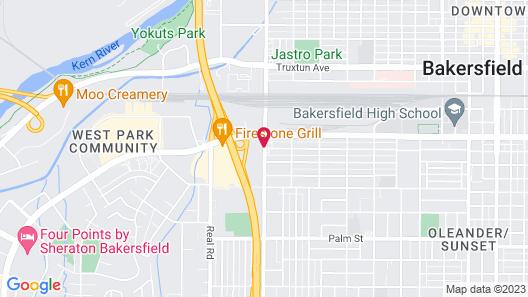 Hampton Inn Bakersfield-Central Map