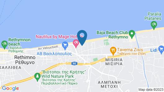 Aristea Hotel Rethymnon Map