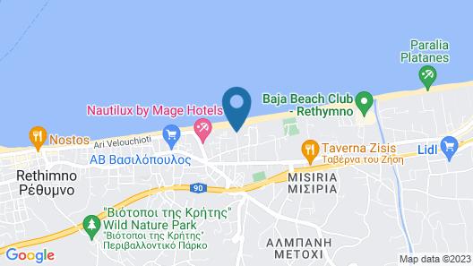Odyssia Beach Hotel Map