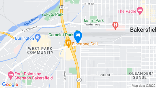 Extended Stay America - Bakersfield - California Avenue Map