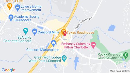 Comfort Suites Concord Mills Map