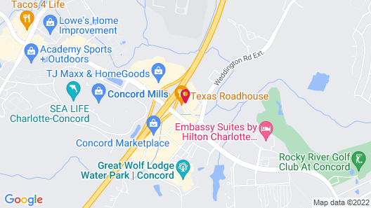 SpringHill Suites by Marriott Charlotte Concord Mills Spdwy Map