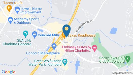Sleep Inn & Suites at Concord Mills Map