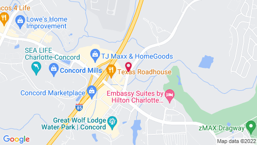 Hampton Inn & Suites Concord/Charlotte Map