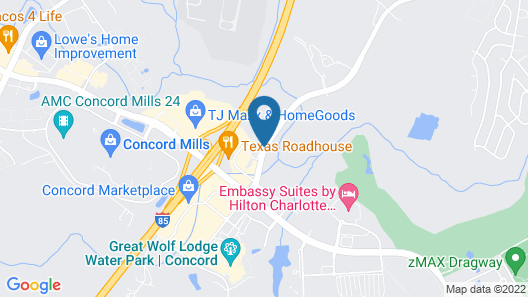 Hampton Inn & Suites Concord/Charlotte Map