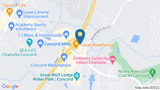 Wingate by Wyndham Charlotte Speedway/Concord Map