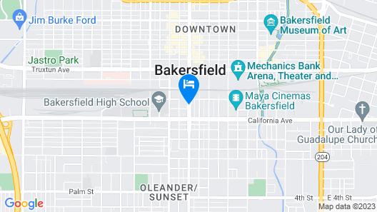 Vagabond Inn Executive Bakersfield Downtowner Map