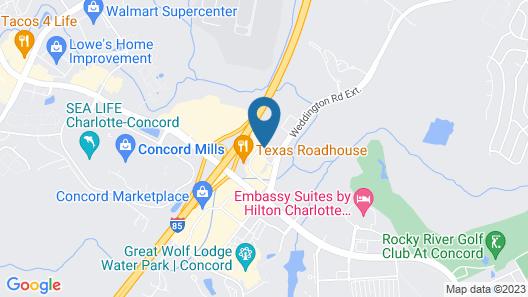 Hilton Garden Inn Charlotte-Concord Map