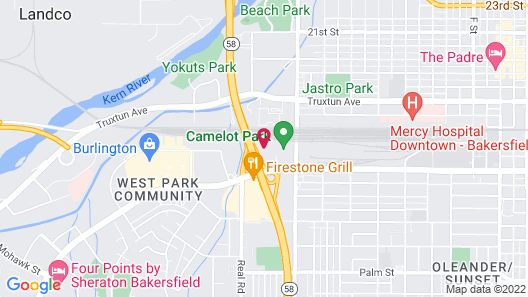 Extended Stay America Suites Bakersfield California Avenue Map