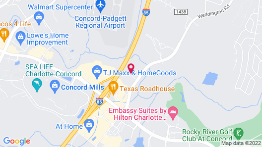Uptown Suites Extended Stay Charlotte NC – Concord Map