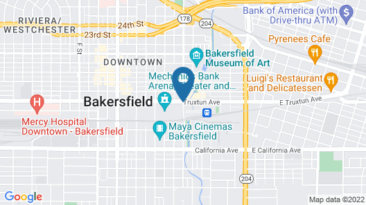 Bakersfield Marriott at the Convention Center Map