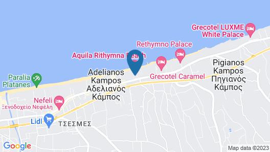 Aquila Rithymna Beach Map
