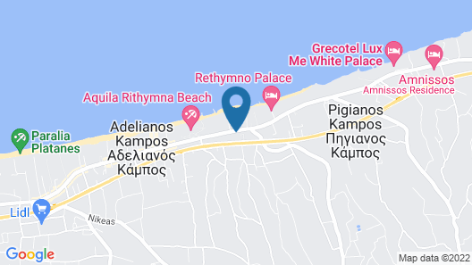 Rethymno Residence Hotel and Suites Map
