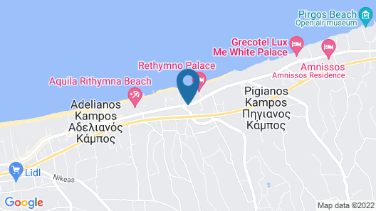 Seafront Beach Hotel Apartments Map