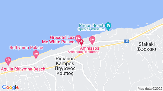 Grecotel LUX.ME White Palace - All Inclusive Map