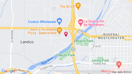 DoubleTree by Hilton Hotel Bakersfield Map