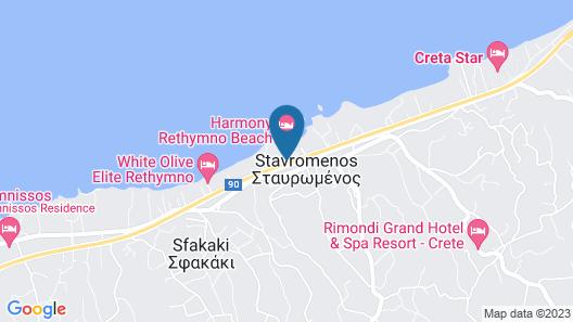 Agelia Beach Hotel Map