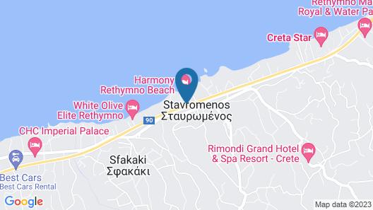 Bomo Rethymno Beach Map