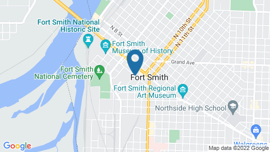 Courtyard Marriott Fort Smith Downtown Map