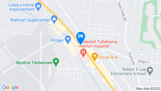 Hampton Inn Tullahoma Map