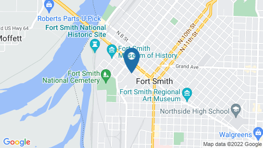 Doubletree by Hilton Fort Smith City Center Map