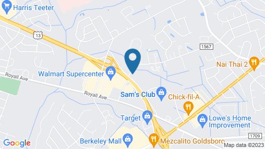 Quality Inn near Seymour Johnson AFB Map